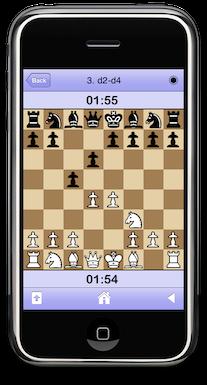 iPhone con un tablero de ajedrez